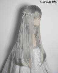 L-2 / KA003 light gray 75cm long straight wig . Tangle Resistant fiber