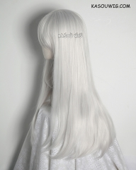 K Project Kushina Anna L-2 / KA002 silver white 75cm long straight wig . Tangle Resistant fiber