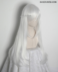 L-2 / KA001 snow white 75cm long straight wig . Tangle Resistant fiber