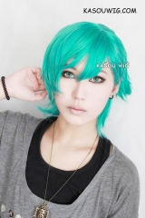 2 colors Uta no Prince sama Mikaze Ai turquoise cosplay wig . clip-on ponytail