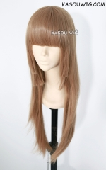Blast of Tempest / Zetsuen no Tempest Fuwa Aika pre-cut light brown cosplay wig