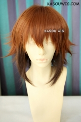 "40cm / 15.7"" Yu-Gi-Oh! GX Jaden Yuki brown coffee ombre flip out cosplay wig"