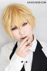 Durarara!! Heiwajima Shizuo short layered blonde cosplay wig