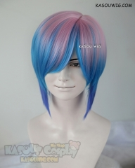 Life is Strange Chloe Elizabeth Price short pink blue short wig