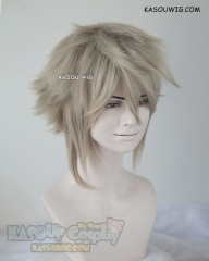 Fire Emblem fates Male Avatar Corrin flaxen sand blonde layered cosplay wig SP02