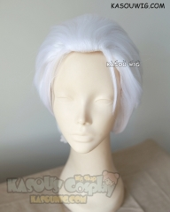 Devil May Cry Vergil  / Fate Stay Night  Archer / Tokyo Ghou Kaneki Ken short all back white layers cosplay wig with widows peak