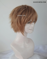 "S-1 / KA023  >>31cm / 12.2""  short caramel layered wig, easy to style,Hiperlon fiber"