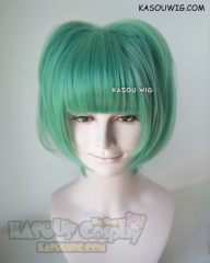 Assassination Classroom Kayano Kaede green short bob cosplay wig with pre-styled cat ears