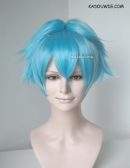 SALE! 50% OFF Assassination Classroom Shiota Nagisa light blue cosplay wig with two ponytail clips
