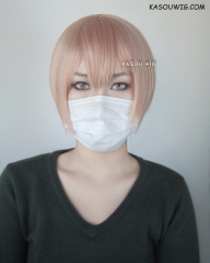 10 count Shirotani Tadaomi short peach pink cosplay wig