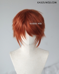 "S-1 / SP06  >>31cm / 12.2"" short auburn brown layered wig, easy to style,Hiperlon fiber"