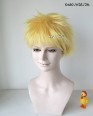 Naruto Uzumaki Naruto short spiky bright yellow cosplay wig