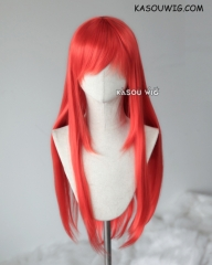 Discounted 【Three Colors】L-2 75cm long straight wig . Heating Resistant fiber