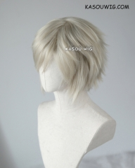 "S-1 / SP27  >>31cm / 12.2"" short light ash blonde layered wig, easy to style,Hiperlon fiber"