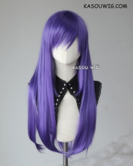 L-2 / KA057 cool purple 75cm long straight wig . Heating Resistant fiber