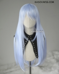 L-2 / KA054 light periwinkle 75cm long straight wig . Heating Resistant fiber