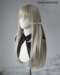 L-2 / SP02 sand blonde 75cm long straight wig . Heating Resistant fiber