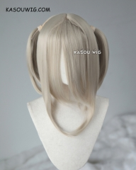 "M-2/ SP02 ┇ 50CM / 19.7"" sand blonde pigtails base wig with long bangs."