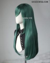 L-2 / KA065 dark olive green 75cm long straight wig . Heating Resistant fiber