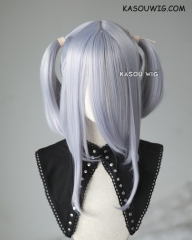 "M-2 / SP26 ┇ 50CM / 19.7"" silver Lavender pigtails base wig with long bangs."