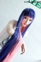 Panty and Stocking with Garterbelt Stocking 120cm long straight blue pink cosplay wig