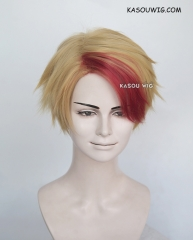 Yuri !!! on Ice Kenjirou Minami short ash blonde wig with red bangs
