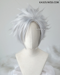 D. Gray-man Allen Walker short silver spiky cosplay wig