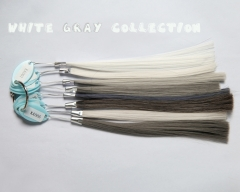 White, Silver, Gray color samples