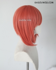 Fire Emblem Fates Sakura salmon orange 42cm bob cosplay wig