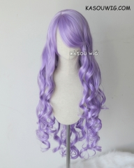 "100cm / 39.5"" Fire Emblem Fates Camilla lilac long curly cosplay wig"