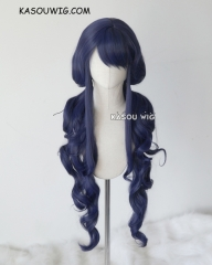 "100cm / 39.5"" Masamune-kun no Revenge Aki Adagaki midnight blue curly pigtails cosplay wig . SP14"