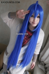 "100cm / 39.5"" Lucky star Konata Izumi / Fairy Tail Wendy Marvell long blue Cosplay Wig 40 inches straight lolita wig"