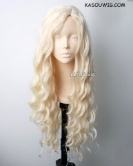 Daenerys Targaryen Game of thrones / A Song of Ice and Fire pale blonde curly cosplay wig 80cm . Lolita wig . SP25
