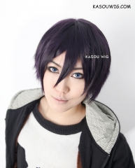 JOJO JoJo's Bizarre Adventure Narancia Ghirga/ Noragami Yato  deep purple layered cosplay wig . SP31