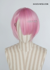 Re zero / Re: Life in a Different World from Zero  Ram short smooth cosplay wig pink ( KA034)