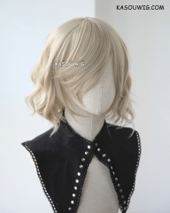 S-4 / SP02 sand blonde  loose beach waves lolita . harajuku wig with bangs .35cm .