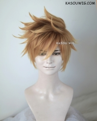Kingdom Hearts Roxas / Ventus blonde ombre spiky cosplay wig