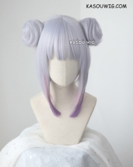 Kobayashi-san Chi No Maid Dragon Kanna Kamui silver purple ombre buns set cosplay wig