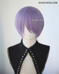S-2 / SP33 grayish purple short bob smooth cosplay wig with long bangs . Tangle Resistant fiber