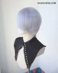 S-2 / SP26 silver Lavender short bob smooth cosplay wig with long bangs . Tangle Resistant fiber