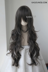 L-3 / SP09 dark gray long layers loose waves cosplay wig . heat-resistant fiber