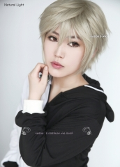 "S-1 / SP02  >>31cm / 12.2""  short sand blonde layered wig, easy to style,Hiperlon fiber"