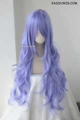 L-3 / KA056 pastel Lavender long layers loose waves cosplay wig . heat-resistant fiber