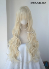 L-3 / SP17 light cream blonde long layers loose waves cosplay wig . heat-resistant fiber