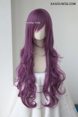 L-3 / SP40 grape purple long layers loose waves cosplay wig . heat-resistant fiber