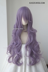 L-3 / SP33 grayish purple long layers loose waves cosplay wig . heat-resistant fiber