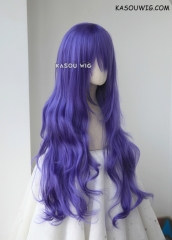 L-3 / KA057 cool purple long layers loose waves cosplay wig . heat-resistant fiber