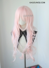 L-3 / SP34 pale pink long layers loose waves cosplay wig . heat-resistant fiber
