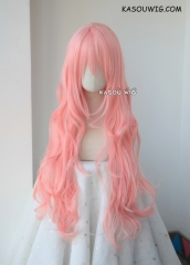 L-3 / SP12 pastel pink long layers loose waves cosplay wig . heat-resistant fiber