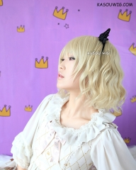 S-4 / KA009 Beach Blonde loose beach waves lolita . harajuku wig with bangs .35cm .